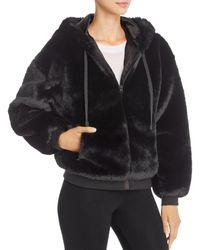 BLANC NOIR Aspen Faux Fur Hoodie - Black