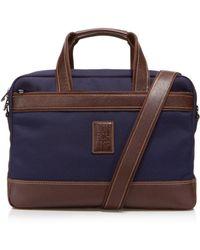 Longchamp Boxford Slim Briefcase - Blue