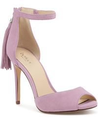 Botkier Women's Anna Suede Ankle Strap High-heel Sandals - Purple
