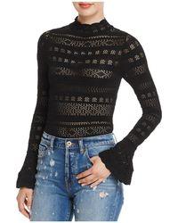 Olivaceous - Pointelle Knit Bodysuit - Lyst