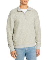 Vince Boucle Quarter Zip Sweater - Grey