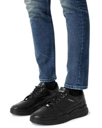 The Kooples Leather Trainers - Black