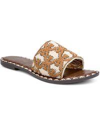 Sam Edelman Gunner Beaded Slide Sandals - Natural