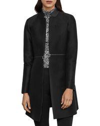 BCBGMAXAZRIA Arelia Zip Waist A - Line Essential Jacket - Black