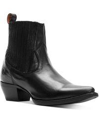 Frye Sacha Chelsea Leather Chelsea Booties - Black