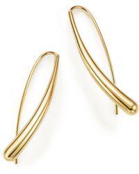 Bloomingdale's 14k Yellow Gold Long Tear Drop Earrings - Metallic