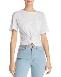 Olivaceous - Twist-front Tee - Lyst