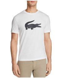 Lacoste - Rubber Crocodile Short Sleeve Tee - Lyst