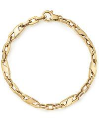 Bloomingdale's - Men's Oval Link Bracelet In 14k Yellow Gold - Lyst