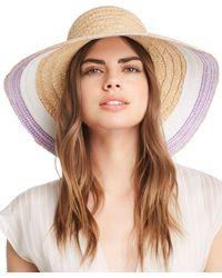 9cbba5e89f786 Kate Spade Rose Colored Glasses Sun Hat in Pink - Lyst