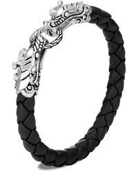 John Hardy Naga Station Bracelet With Leather - Black