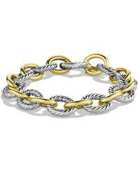 David Yurman | Oval Large Link Bracelet With Gold | Lyst