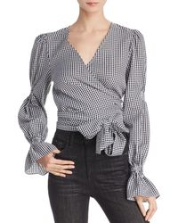 C/meo Collective - Best Love Gingham Wrap Top - Lyst