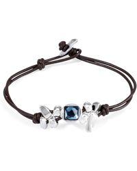 Uno De 50 - Leather Thingy Bracelet - Lyst