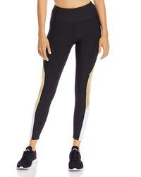 Aqua Athletic Color - Block High - Rise Leggings - Black