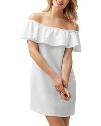 Tommy Bahama Off - The - Shoulder Dress Swim Cover - Up - White