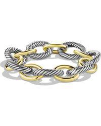 David Yurman Oval Extra Large Link Bracelet With Gold - Metallic