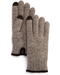 Bloomingdale's - Speckled-knit Tech Gloves - Lyst