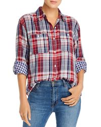 Joie Lidelle Plaid Shirt - Red