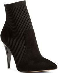 Karen Millen - Women's Knit Pointed Toe Stretch Sock Booties - Lyst