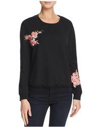 Ella Moss | Roseanna Embroidered Fringed-hem Sweatshirt | Lyst