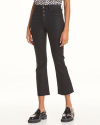 Pistola Lennon High Rise Cropped Jeans In Coated Black