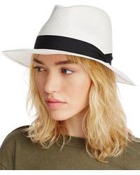 Rag & Bone Panama Wide Brim Hat - White