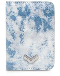 Botkier Soho Leather Card Case - Blue