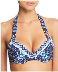 Tommy Bahama - Cowrie-print Underwire Halter Bikini Top - Lyst