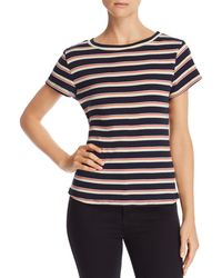 0870d031a10 Honey Punch - Ribbed Rainbow Stripe Tee - Lyst