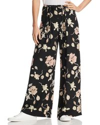 Lost + Wander Lost + Wander Mojo Floral-print Wide-leg Pants - Black