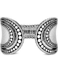 John Hardy Hammered Sterling Silver Dotted Flex Cuff Bracelet - Metallic