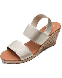 Andre Assous - Women's Allison Stretch Strap Mid Wedge Espadrille Sandals - Lyst