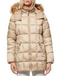 Marc New York Faux Fur - Trim Parka - Natural