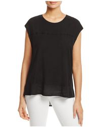 Two By Vince Camuto - Mixed Media Tee - Lyst