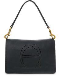Etienne Aigner Stella Medium Leather Satchel - Black