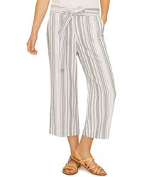 Sanctuary - Striped Cropped Pants - Lyst