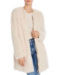 BB Dakota Soft Spot Faux Fur Jacket - White