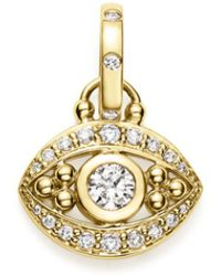 Temple St. Clair 18k Yellow Gold Evil Eye Pendant With Diamonds - Metallic