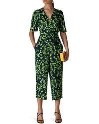 Whistles - Digital Daisy Print Button Jumpsuit - Lyst