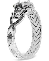 John Hardy - Sterling Silver Legends Naga With Black Spinel & Blue Sapphire Eyes Bracelet - Lyst