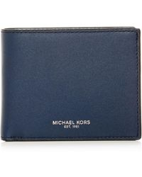 e179b54d3c9a Lyst - Michael Kors Henry Suede Zip-around Wallet in Brown for Men