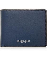 Michael Kors - Henry Slim Leather Bi-fold Wallet - Lyst