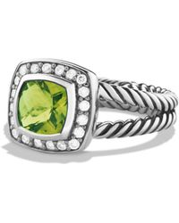 David Yurman - Petite Albion Ring With Peridot & Diamonds - Lyst