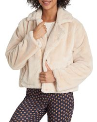 Billabong Moon Riser Faux Fur Jacket - Natural