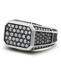 David Yurman - Streamline Pavé Signet Ring With Black Diamonds - Lyst
