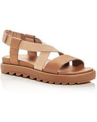 Sorel Women's Roaming Criss - Cross Platform Sandals - Brown