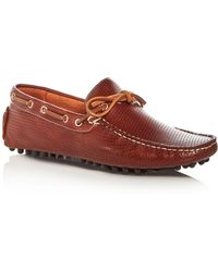 Bloomingdale's - Men's Perforated Leather Moc Toe Drivers - Lyst