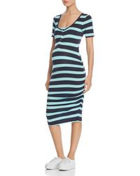 Nom Maternity - Snap - Front Ruched Tee Dress - Lyst