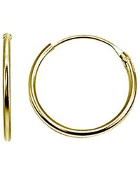 Aqua Tiny Hoop Earrings In 18k Gold - Plated Sterling Silver Or Sterling Silver - Metallic